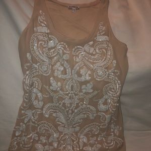 Express beaded Tank Sz S